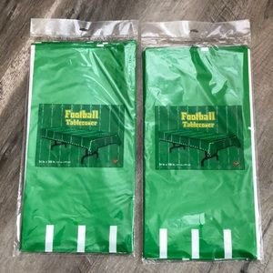 Football Plastic Tablecover Two-Pack